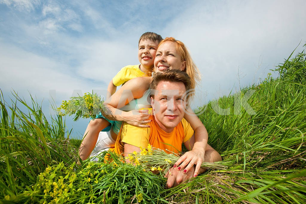 Mother, dad and Son Having Fun — Image 10676