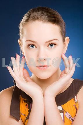 Close-up portrait pretty girl