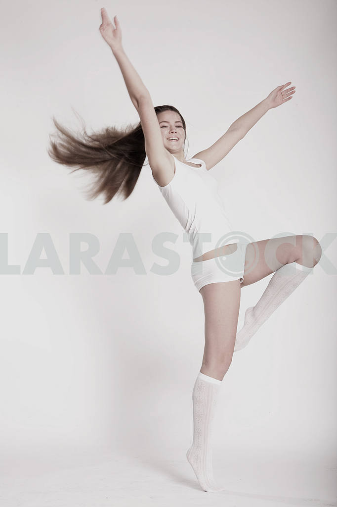 Young underwear model fun on a white background — Image 10868