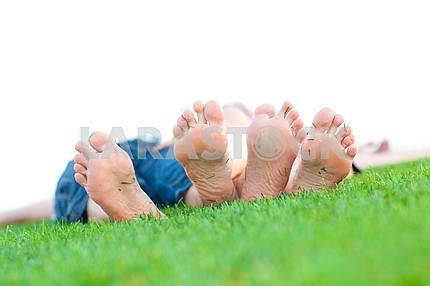bare feet on grass