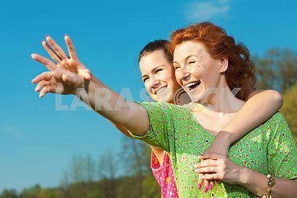 Mom and Daughter Having Fun