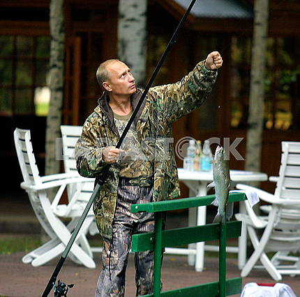 Vladimir Putin on a fishing trip