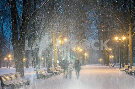Storm in Mariinsky Park
