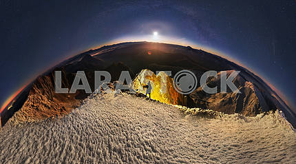 Moonrise over Mika-Mare, in the Carpathian Mountains