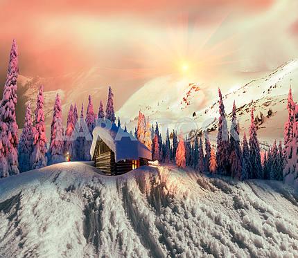 Красота горы зимой