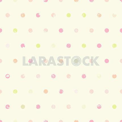 Polka dots vintage seamless pattern
