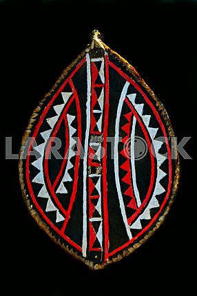 Leather shield African Masai tribe in Kenya