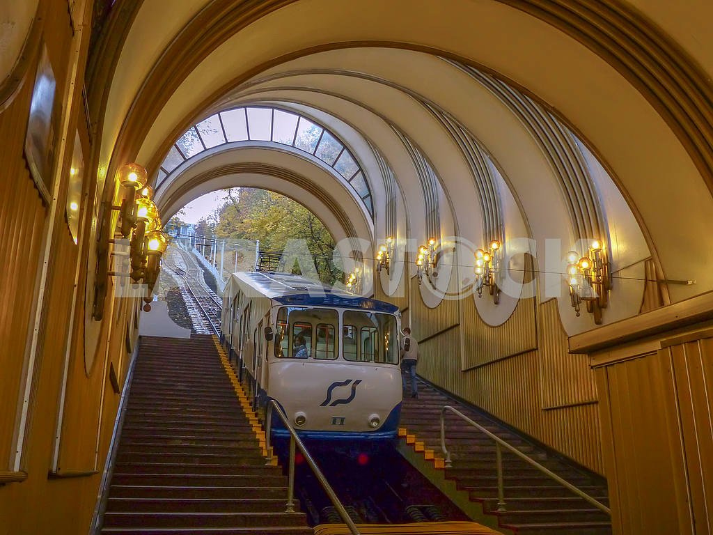 "One of the symbols of Kiev - Kiev funicular - mode of transport was originally named ""Michael electric rope climb"", was opened on 7 May 1905 and was second in the Russian Empire after the Odessa opened in 1902. — Image 1325"