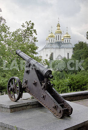 The cast-iron cannon in Chernigov