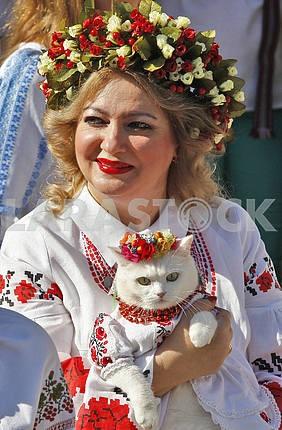 16th Megamarsh vyshivanok in Kiev