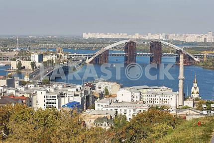 Подольский мостовой переход и Гаванский мост,Киев