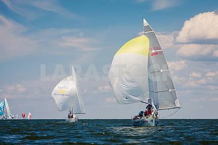 Yachts sailing