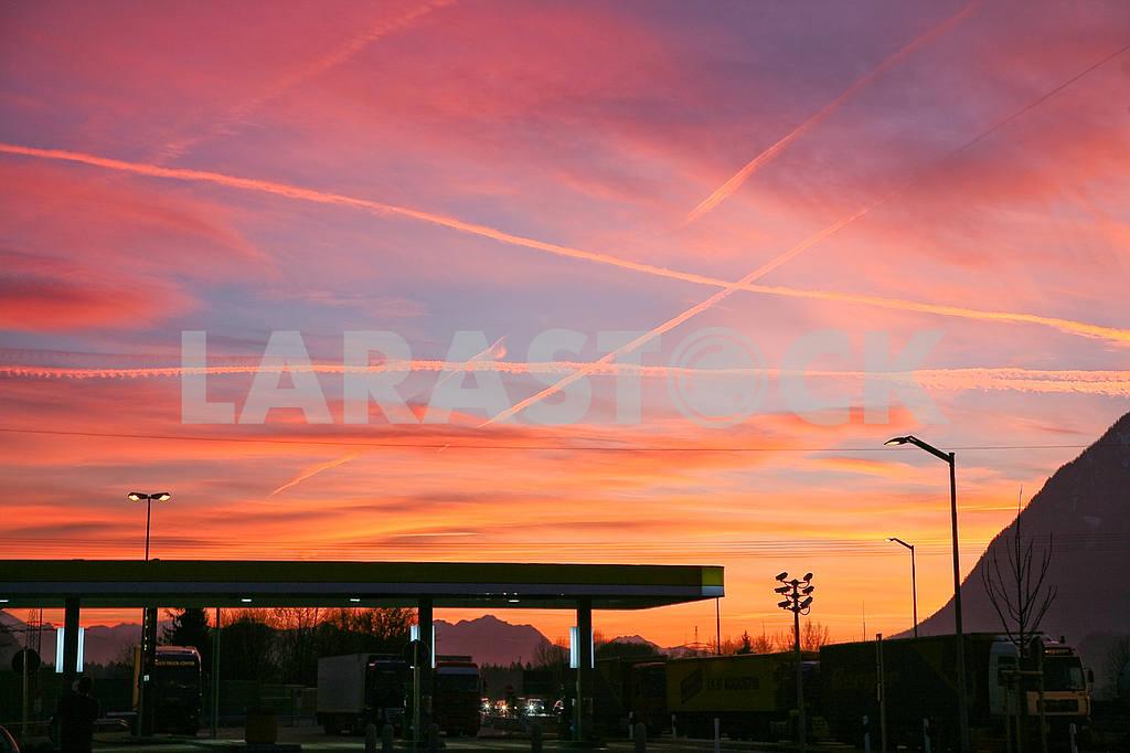 A crimson sunset Austria — Image 13912
