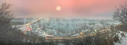 Ночной мост Патона