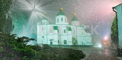 Снежная буря и дождь окутал Киев