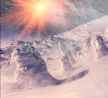 Одеяло из снега и льда