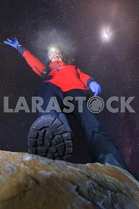 Night climb to the summit