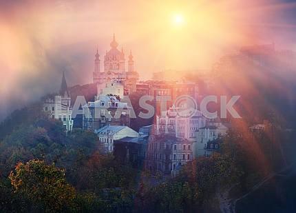 Вид Андреевской церкви в Киеве