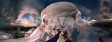 Climbing ice cream