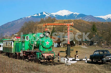 Carpathian vintage train