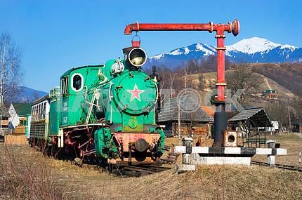 Carpathian vintage train