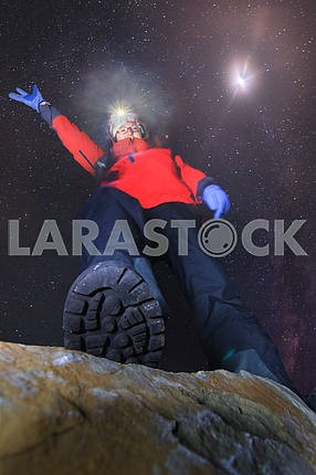 Night climb to the summit
