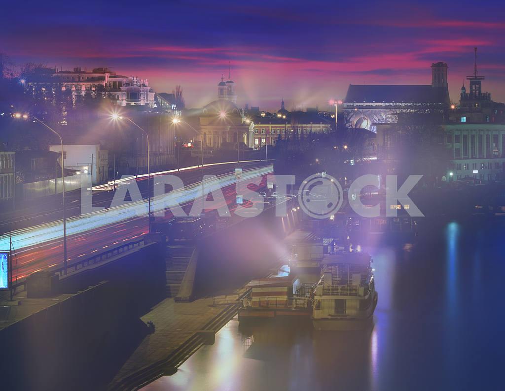 Kiev sunset on the Dnieper River — Image 15920