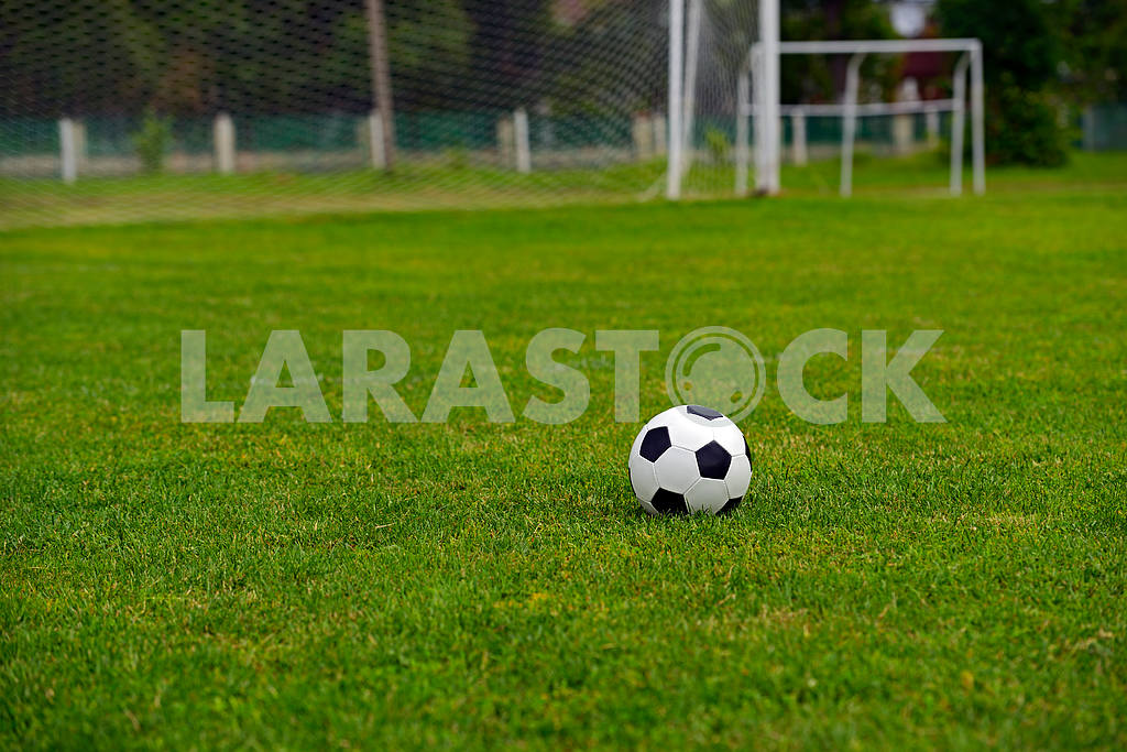 Leather soccer ball — Image 1649