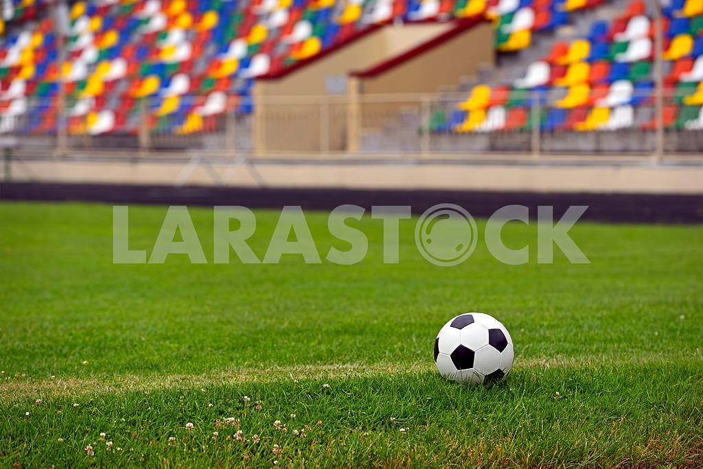Leather soccer ball — Image 1657