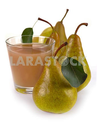 Pear juice and fruit
