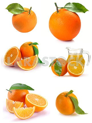 Set orange juice and fruit