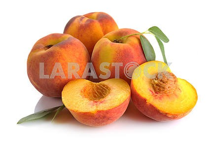 peach and leaves