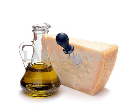 Parmesan cheese and olive oil