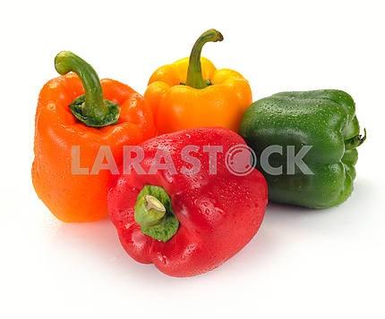 Multi-coloured paprika