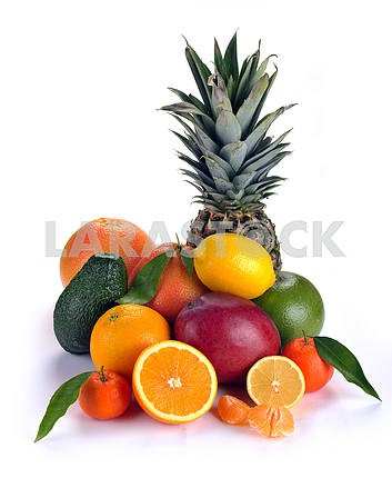 Набор цитрусовые и тропических фруктов