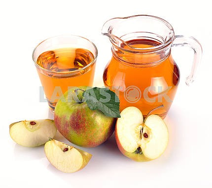 Apple juice and fruit