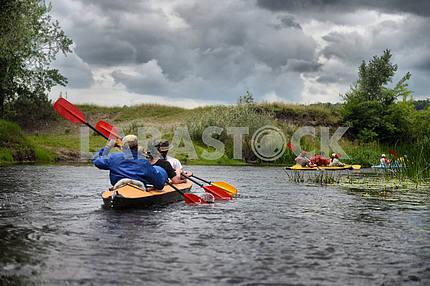 River, Sula, 2014 Ukraine, june14 ; river rafting kayaking edito