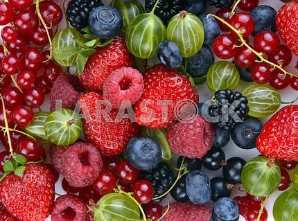 Различные свежие ягоды