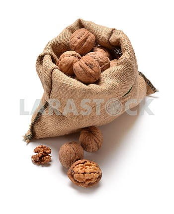 Walnuts and a bag