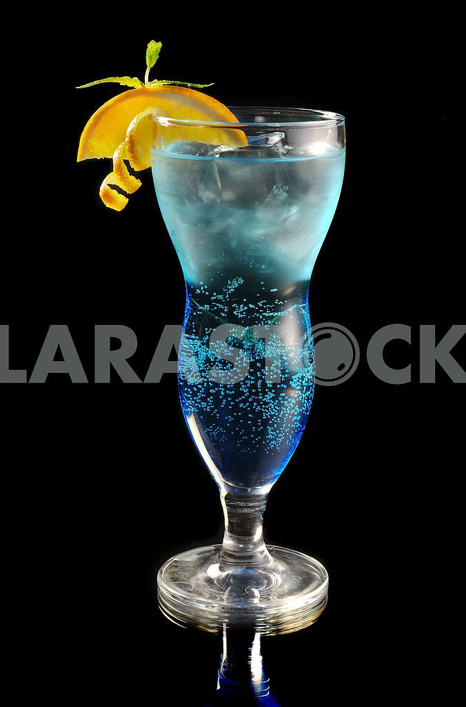 for Orange and blue cocktails