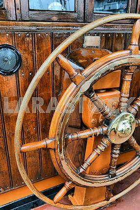 Steering wheel sailboat