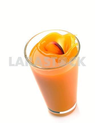 Peach juice splash