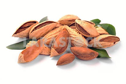 Group of almond nuts