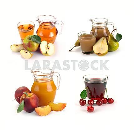 Набор стекла и кувшин сока фруктов