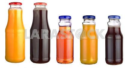Set of bottles of juice