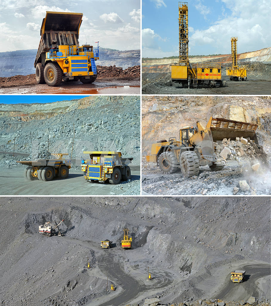 Set of images of open cast mining of iron ore — Image 18000
