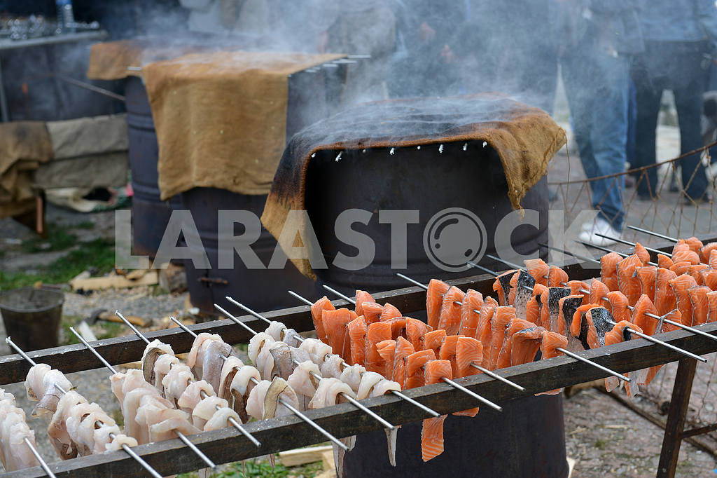 Smoked salmon ancient way — Image 18103