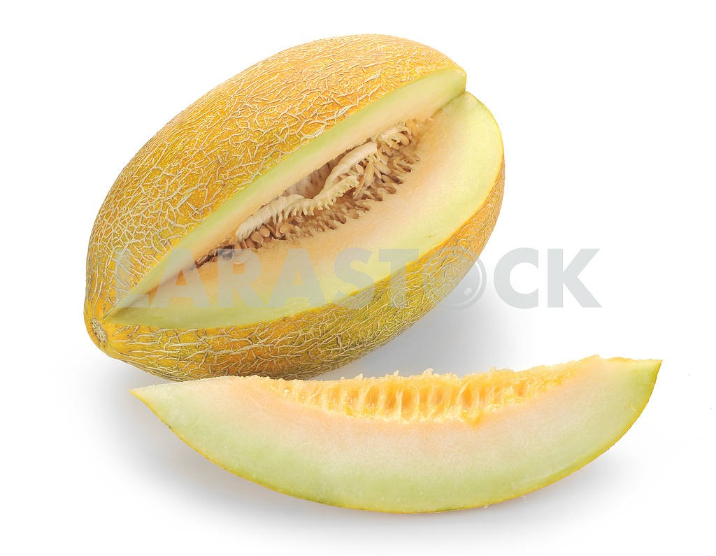 Melon with slices isolated — Image 18180