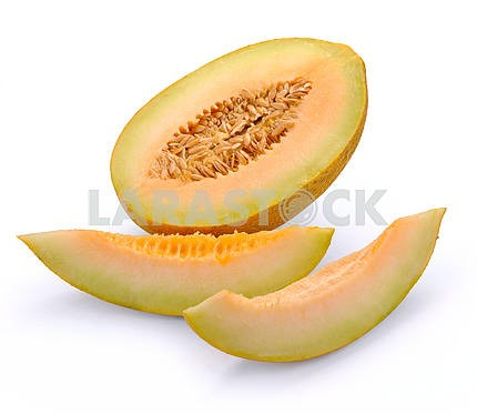Melon with slices