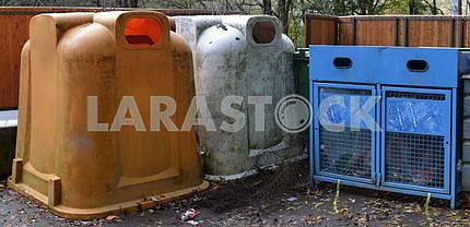 Various waste bins for waste separation